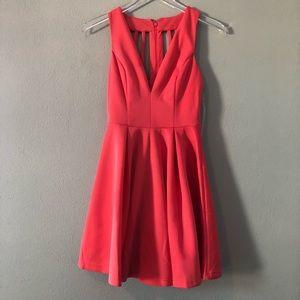Boutique | hot pink cage back dress